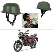 AutoStark German Style Half Helmet (Green) for Hero Glamour