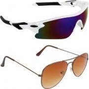 Zyaden Sports, Aviator Sunglasses(Multicolor, Brown)