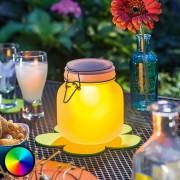 Decorative LED glass Satin Glass, solar powered