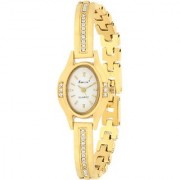 Evelyn Stainless Steel Gold Plated Wrist Watch for Women-EVE-536