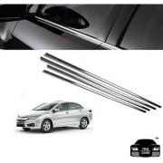 Trigcars Honda City Car Window Lower Chrome Garnish (2014)