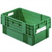 Drehstapelkasten Inhalt 49 Liter, Wände und Boden geschlossen, VE 4 Stk grün
