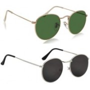 Hipe Oval Sunglasses(Multicolor)