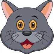 Shoppartners Dieren masker grijze kat/poes voor kids