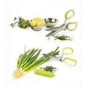 Sharp Multifunction 5 Blades Scissors-vegetable Chopper-paper Shredder