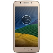 "Telefon Motorola Moto G5, Procesor Octa-Core 1.4GHz, IPS LCD Capacitive touchscreen 5"", 3GB RAM, 16GB Flash, 13MP, Wi-Fi, 4G, Dual Sim, Android (Auriu) + Cartela SIM Orange PrePay, 6 euro credit, 4 GB internet 4G, 2,000 minute nationale si internationale"