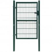 vidaXL 2D Fence Gate (Single) Green 106 x 190 cm