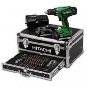 Hikoki kit avvitatore HITACHI DV18DJL + valigetta alluminio + 100 inserti