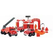 Joc de construit Écoiffier pentru copii Staţie de pompieri Abrick 1396 roşu