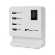 Talius CHA-4003 Cargador de Pared 4 USB Blanco