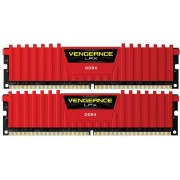 Memorii Corsair Vengeance LPX Red 8GB(2x4GB), DDR4, 2133MHz, CL13, Dual Channel