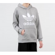 adidas Trefoil Hoodie Medium Grey Heather/ White