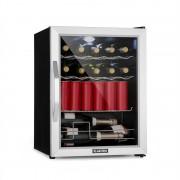 Klarstein Beersafe XL Mix It Edition, frigider, A++, LED, 4 grile metalice, uși din sticlă (Beersafe-XL-mixit)