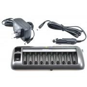 Cargador de 1 a 10 baterías de Nicd o Nimh AAA , AA y 9V
