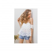 Blusa Strapless Transparente Primavera Verano