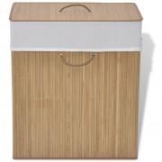 vidaXL Bambusový koš na prádlo čtverhranný, přírodní odstín