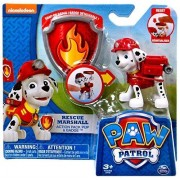 Paw Patrol Action Pack Pup & Badge Rescue Marshall Figure Set