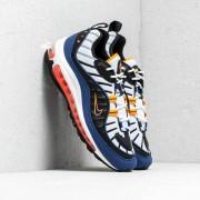 Nike Air Max 98 White/ Deep Royal Blue-Total Orange-Black