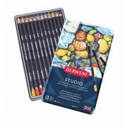 Derwent Studio 12 potloden in een blik