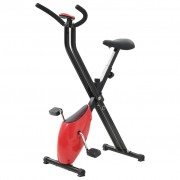 vidaXL Bicicleta estática X-Bike resistência de correia vermelho