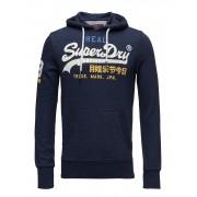 SUPERDRY Vintage Logo Lite Tri Hood Hoodie Blå SUPERDRY