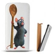 Toc Samsung Galaxy S6 Edge Plus G928 Husa Piele Ecologica Flip Vertical Alba Model Ratatouille