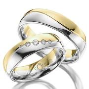 MAHOGANY snubní prsteny v kombinaci bílé a žluté zlato C 5 WN 3 BZ