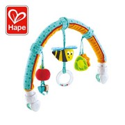 Hape Garden Friends Play Arch| Infant Crib Play Set Hanging Toys, Stroller and Car Seat Pram Toy Suitable for Children 0-5 Month Old
