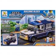 Конструктор полицейски камион 2в1 (132 елемента) EmonaMall - Код W3257