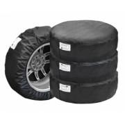 Husa pentru depozitarea anvelopelor marime L pentru cauciucuri de marimea R14 R15 R16 R17 de culoare neagra cu eticheta