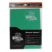 Monster Binder 9 Pocket Trading Card Album Matte Emerald Green (Anti Theft Pockets Hold 360+ Yugioh, Pokemon, Magic The Gathering Cards)