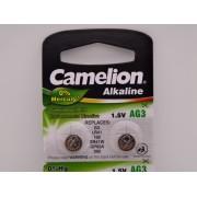 Camelion AG3, baterie ceas 1.5V alcalina, LR41, 192, SR41W, GP92A, 392 blister 10