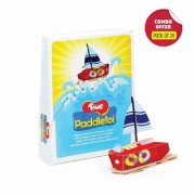 Toiing Paddletoi Return Gift Combo - Pack of 24 DIY Rubberband Paddle Boat for Kids STEM Science Learning Project