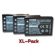 vhbw set 3 batteries 1600mAh pr Kodak Easyshare DX3600 DX6490 DX7440 DX7590 DX7630 P712 P850 P880 Z7590 Z730 Z760, remplace Klic-5001, DB-L50, BP-243