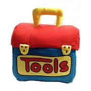 SOFTTOYS Fabric Tool Box Children's Soft Tools Play Set with 5 Washable Toys for Ages Baby