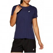 ASICS Silver Shirt Women - Female - Navy - Grootte: Small