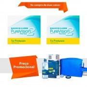 Purevision 2 Multifocal para Presbiopia com Kit Renu Fresh