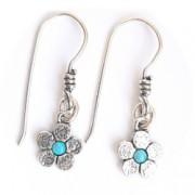 Cercei argint 925 Israel floare cu opal imperial - Be Nature EPO0035