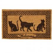 Clayre & Eef MC026 Lábtörlő 45x75cm,macskás