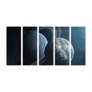 Set Tablouri Multicanvas 5 Piese Astronomie - 90 x 150 cm