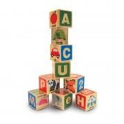 Cuburi din lemn Alfabetul, 26 piese