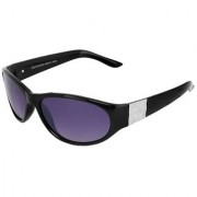 Silver Kartz Luxury Black Metal-Square Wayfarer Rectangular Sunglasses (Black Violet)