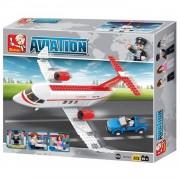Sluban b0365 avia c-concept vliegtuig sluban bouwblokken