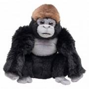 Merkloos Knuffel aap zwarte gorilla 18 cm