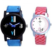 Fancy Number Black Dial And Pink Peacock Couple Analogue Watch By Vivah Mart