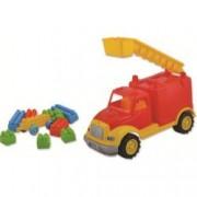 Masina pompieri 30 cm cu 36 piese constructie in cutie Ucar Toys UC102 B39016915