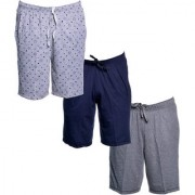 Vimal-Jonney Multicolor Cotton Blended Bermuda Shorts For Men(Pack Of 3)