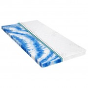 vidaXL Sur-matelas 80 x 200 cm Mousse de gel 7 cm