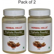 Herbal Hills Natural Triphala Churna blend (Amla Harad Baheda) - 100gms powder - Pack of 2 - Healthy Digestion