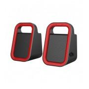 Astrum SU160 piros-fekete 2.0 csatornás 3,5MM multimédia hangszóró USB-s áramellátással, prémium hangzással 2 X 3W, A13516-N